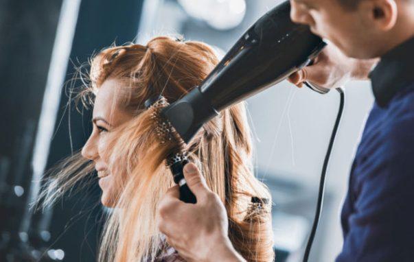 hiusten kuivaus