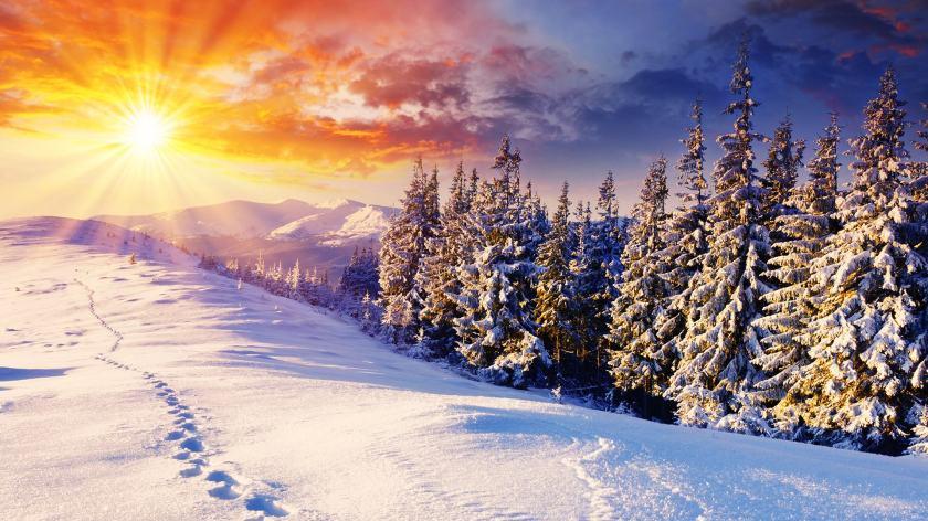 aurinkoinen talvi